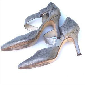 Paul Green platinum front strap, pumps. Sz…